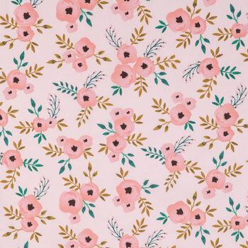 Blush Watercolor Roses Apparel Fabric