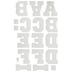 White Sport Iron-On Applique Alphabet - 2