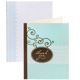 Teal & Brown Thank You Cards