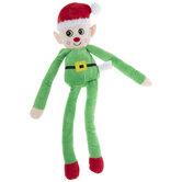 Plush Elf Squeaky Dog Toy