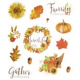 Thanksgiving Autumnal Stickers