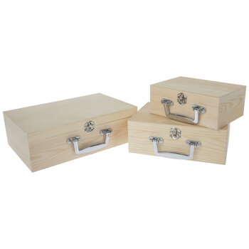 Wood Box With Handle Set