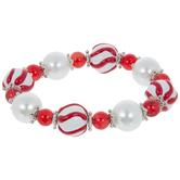 Red & White Striped Bracelet