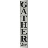 Gather Here Distressed Wood Wall Decor