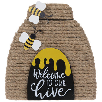Welcome To Our Hive Wood Decor