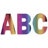 Rainbow Foil Alphabet Stickers
