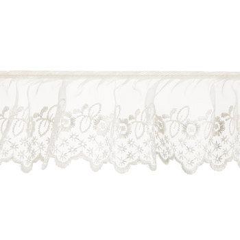 Ivory Ruffled Lace Trim