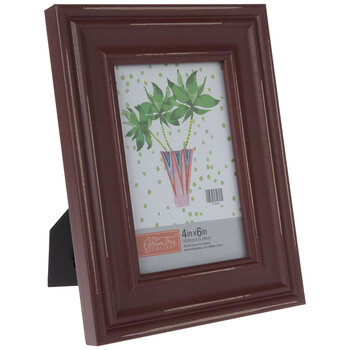 """Red Distressed Wood Frame - 4"""" x 6"""""""