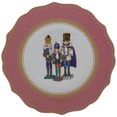 Pink Nutcrackers Plate