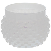 White Opal Hobnail Glass Candle Holder