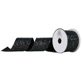 "Glitter Canvas Cut Edge Ribbon - 2 1/2"""
