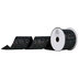 Black Glitter Canvas Cut Edge Ribbon - 2 1/2