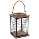 Wire & Wood Lantern