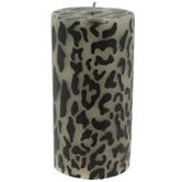 Leopard Print Pillar Candle