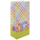 Happy Easter Plaid Gift Sacks