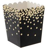 Black & Gold Confetti Favor Boxes