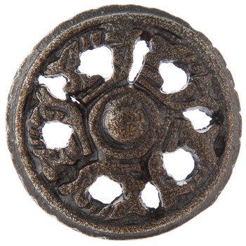 Antique Bronze Open Scroll Metal Knob
