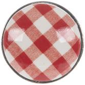 Red & White Gingham Knob
