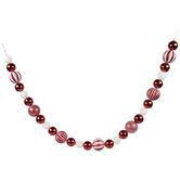 Red & White Glitter Ball Ornament Garland