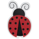 Ladybug Painted Wood Shape