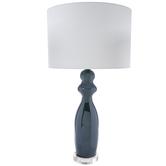 Green Iridescent Glass Lamp