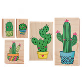 Cacti Rubber Stamps