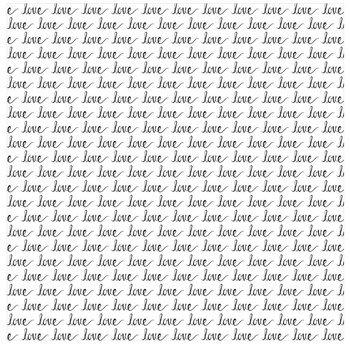 """Love Word Scrapbook Paper - 12"""" x 12"""""""