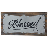 Blessed Galvanized Metal Wall Decor