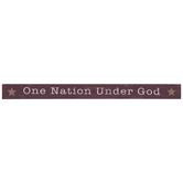 One Nation Under God Wood Decor