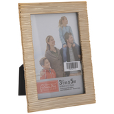 """Gold Linear Weave Metal Frame - 3 1/2"""" x 5"""""""