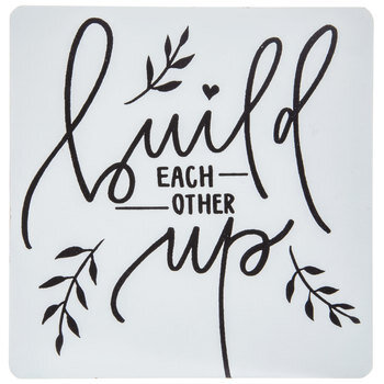 Build Each Other Up Wood Decor
