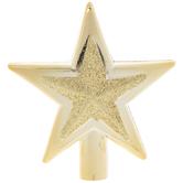 Gold Glitter Star Mini Tree Topper