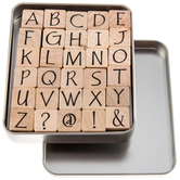 Upper Case Party Ink Alphabet Rubber Stamps