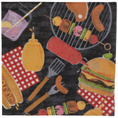 Barbecue Icons Paper Napkins
