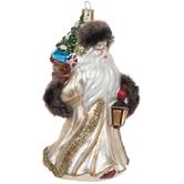 Santa Holding Lantern Ornament
