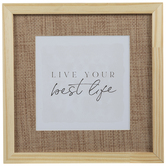 Best Life Framed Wood Wall Decor