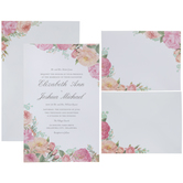 Floral Corner Wedding Invitations