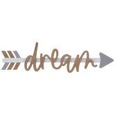 Dream Arrow Wood Wall Decor