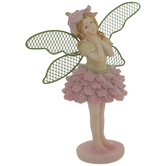 Pink Fairy With Metal Wings