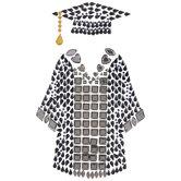 Graduation Cap & Gown Rhinestone Stickers