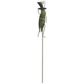 Grasshopper With Top Hat Metal Garden Pick