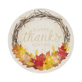 Small Happy Thanksgiving Wreath Paper Plates