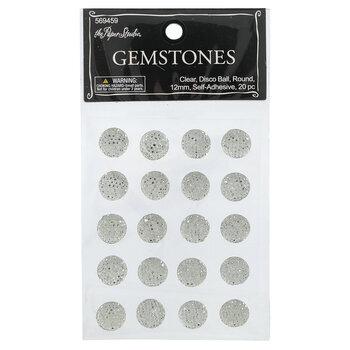 Round Disco Rhinestone Stickers