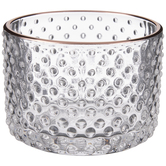 Raised Dot Glass Candle Holder