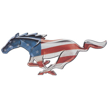 Stars & Stripes Ford Mustang Metal Sign