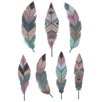 Feather 3D Stickers