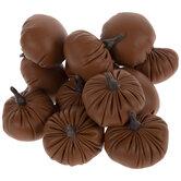 Orange Faux Leather Pumpkins