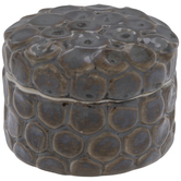 Metallic Patina Round Jewelry Box