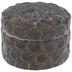Metallic Patina Round Jewelry Box