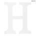 Whitewash Wood Letter - H